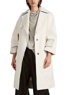 Narciso Rodriguez Women's Cutout-Detailed Cotton Twill Trench Coat