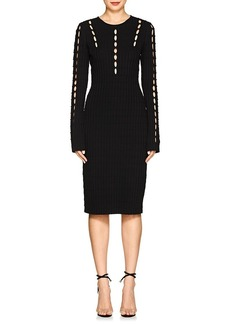 Narciso Rodriguez Women's Cutout Rib-Knit Fitted Dress