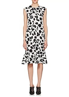 Narciso Rodriguez Women's Floral-Print Stretch-Silk Crepe Dress