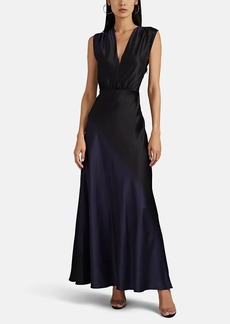 Narciso Rodriguez Women's Gradient-Dyed Silk V-Neck Gown