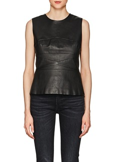 Narciso Rodriguez Women's Lambskin Sleeveless Top
