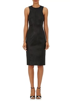 Narciso Rodriguez Women's Leather Sleeveless Sheath Dress