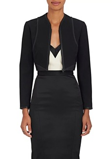 Narciso Rodriguez Women's Leather-Trimmed Wool Crop Jacket