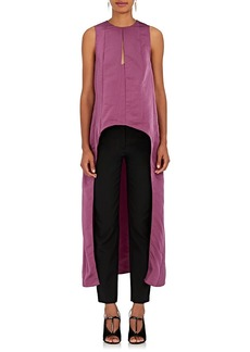 Narciso Rodriguez Women's Matte Silk Satin Trapeze Top