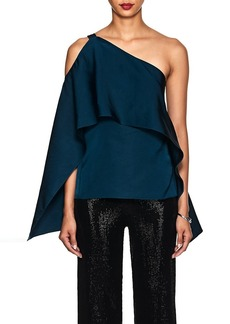 Narciso Rodriguez Women's One-Shoulder Silk Satin Draped Top