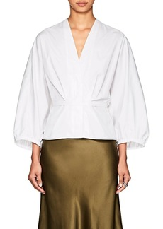 Narciso Rodriguez Women's Puff-Sleeve Cotton Poplin Blouse