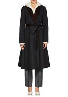 Narciso Rodriguez Women's Reversible Felted Wool Long Wrap Coat