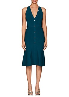 Narciso Rodriguez Women's Rib-Knit Flared Button-Front Dress