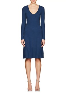 Narciso Rodriguez Women's Rib-Knit Long-Sleeve Dress