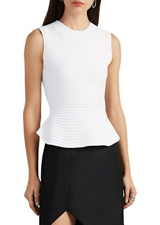Narciso Rodriguez Women's Ribbed Scuba-Knit Peplum Top