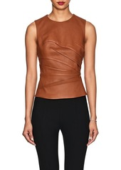 Narciso Rodriguez Women's Ruched Leather Top