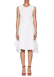 Narciso Rodriguez Women's Ruched Rib-Knit Sleeveless Dress