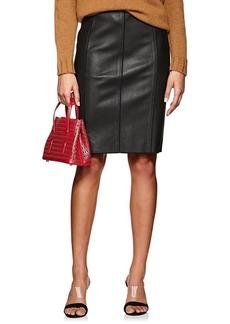 Narciso Rodriguez Women's Seamed Lambskin Pencil Skirt