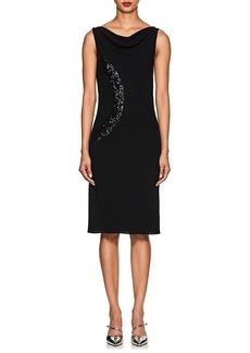 Narciso Rodriguez Women's Sequin-Embellished Silk Crepe Midi-Dress