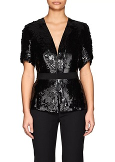 Narciso Rodriguez Women's Sequined Silk Short-Sleeve Jacket