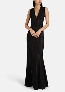 Narciso Rodriguez Women's Sequined Textured Cotton-Blend Gauze Gown