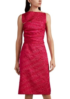 Narciso Rodriguez Women's Silk-Blend Cloqué Cutout Sheath Dress