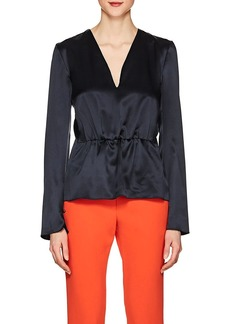 Narciso Rodriguez Women's Silk Charmeuse Peplum Blouse