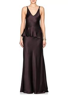 Narciso Rodriguez Women's Silk Charmeuse Peplum Gown