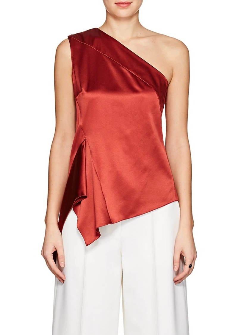 Narciso Rodriguez Women's Silk Satin One-Shoulder Blouse