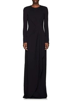Narciso Rodriguez Women's Stretch-Crepe Draped Gown