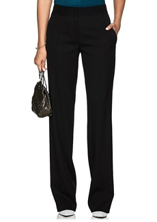 Narciso Rodriguez Women's Stretch-Wool Wide-Leg Trousers