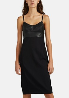 Narciso Rodriguez Women's Virgin Wool & Leather Cami Dress