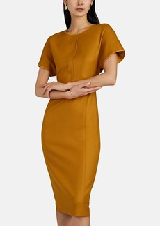 Narciso Rodriguez Women's Wool Fitted Midi-Dress
