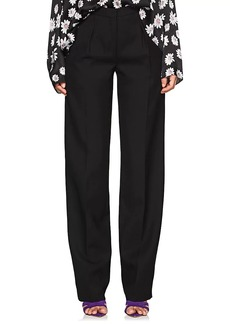 Narciso Rodriguez Women's Wool Straight Pleated Trousers