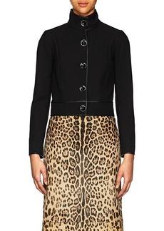 Narciso Rodriguez Women's Wool Twill Crop Jacket