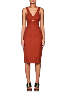 Narciso Rodriguez Women's Wool Twill Cutout Sheath Dress