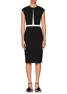Narciso Rodriguez Women's Wool Twill Fitted Sheath Dress