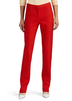 Narciso Rodriguez Women's Wool Twill Slim-Straight Trousers