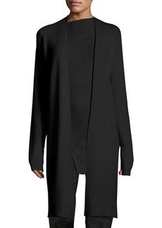 Narciso Rodriguez Wool-Cashmere Triangle-Back Knit Cardigan