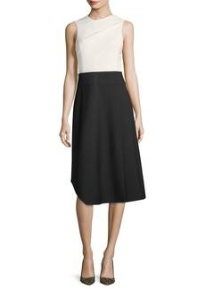 Narciso Rodriguez Wool Sleeveless Colorblock Dress