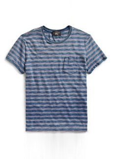 Narciso Rodriguez Striped Cotton Pocket T-Shirt
