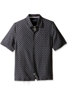 Nat Nast en's Neat Traditional Fit Print Shirt Black ojito