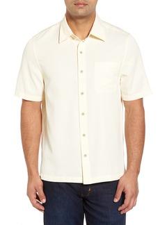 Nat Nast 'Havana Cloth' Regular Fit Short Sleeve Silk & Cotton Sport Shirt