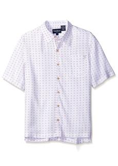 Nat Nast Men's Circle Print Short Sleeve Shirt  M