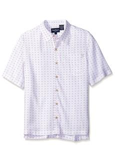 Nat Nast Men's Circle Print Short Sleeve Shirt  S
