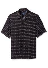 Nat Nast Men's Diamond Print Short Sleeve Shirt  S