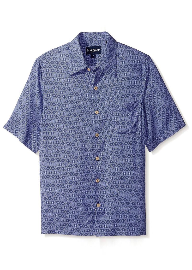Nat Nast Men's Geo Print Short Sleeve Shirt  M