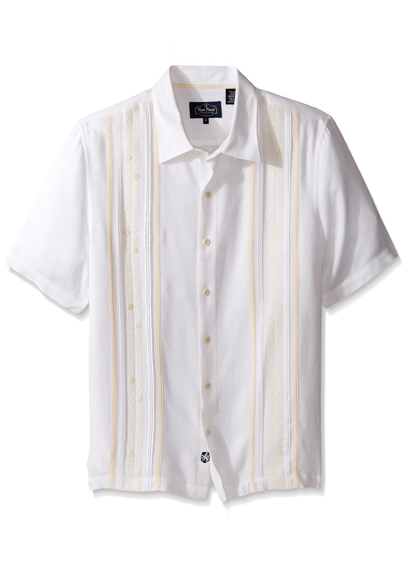 Nat Nast Men's Novelty Traditional Fit Short Sleeve Shirt  M