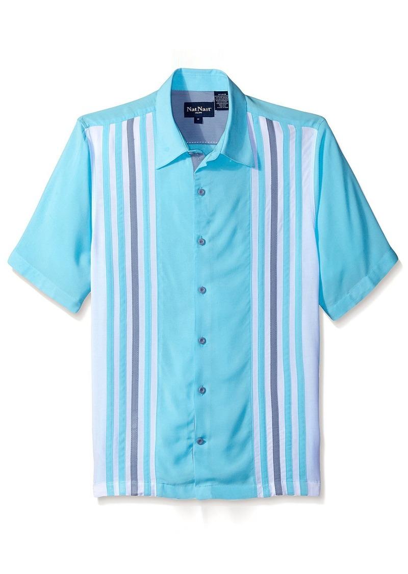 Nat Nast Men's Panel Short Sleeve Shirt  M