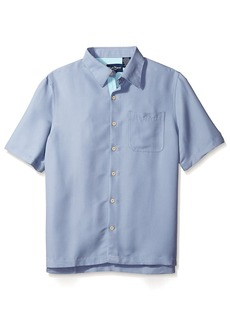 Nat Nast Men's Solid Short Sleeve Shirt  M