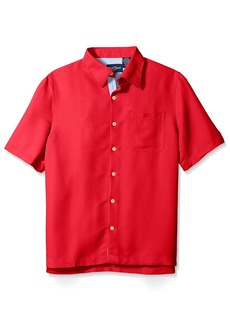 Nat Nast Men's Solid Short Sleeve Shirt  M