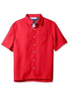 Nat Nast Men's Solid Short Sleeve Shirt  S