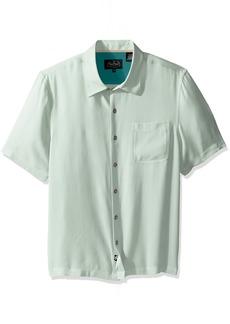 79babdcd Nat Nast Men's Solid Traditional Fit Silk Blend Short Sleeve Shirt M