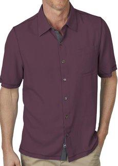 Nat Nast Mens Solid Traditional Fit Silk Blend Short Sleeve Shirt  XXL