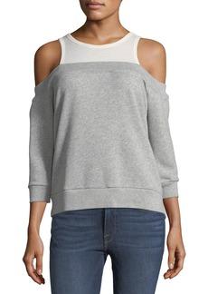 Nation Ltd. Layered Off-The-Shoulder Sweatshirt